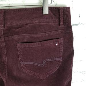 TOMMY HILFIGER | burgundy corduroy bootcut pants